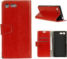 Sony Xperia Xz Premium Horse Magnetisk Lær Flip Etui - Rød