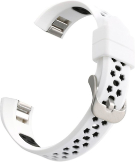 Fitbit Alta dual-color hollow silicone watchband - White + Black