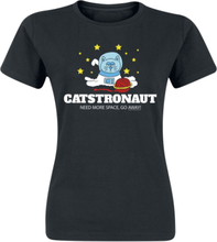 Catstronaut Need More Space, Go Away! - -T-skjorte - svart