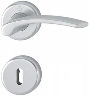 ID Handtag Hoppe Ibiza Aluminium Silver F1 (Handtag med Nyckelskylt)