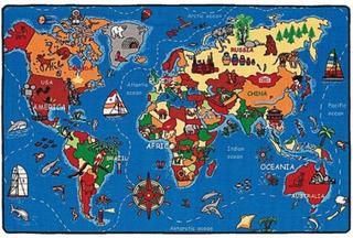 Strehög World Map Matta 100x150 cm