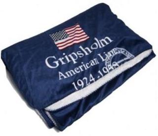 Gripsholm American Line Navy Pläd