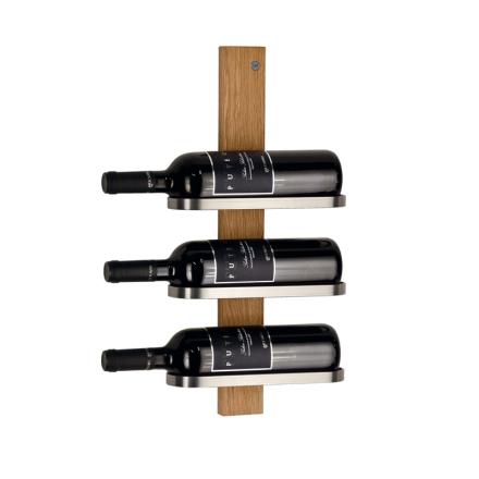 Mazzi Vinställ oljad ek 3 flaskor vägg