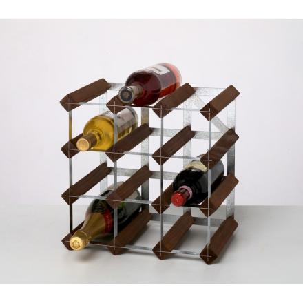 RTA Vinställ 12 flaskor brun furu
