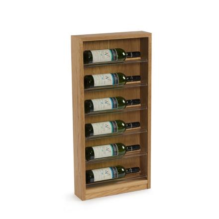 TWR Vinställ Scallop 6 flaskor mörkt trä