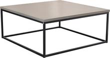 Mystic soffbord Betong/svart kub 100x100 cm