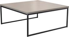 Mystic soffbord Betong/svart halvkub 100x100 cm