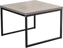 Mystic soffbord Betong/svart halvkub 50x50 cm