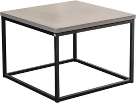 Mystic soffbord Betong/svart kub 60x60 cm