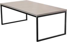 Mystic soffbord Betong/svart halvkub 140x70 cm