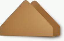 Kuvert hylla Cinnamon brown
