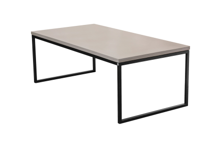 Mystic soffbord Betong/svart halvkub 120x85 cm