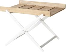 Rail brickbord Vit/teak 49x42 cm
