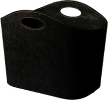 Korg av filt Svart 45x30 cm