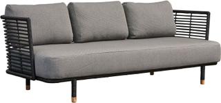 Sense 3 pers. soffa Svart, rotting