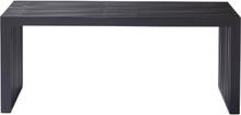 Rib bänk Svart 104x35 cm