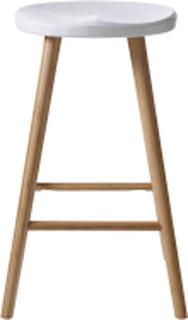 Noble barstol Bambu/vit