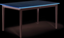 Boden matbord Björk/vitlack 140x90 cm