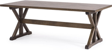 Estelle matbord Brunbetsad ek 205x100 cm