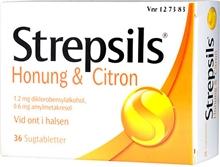 Strepsils (Läkemedel) 36 tabletter Citron / honung