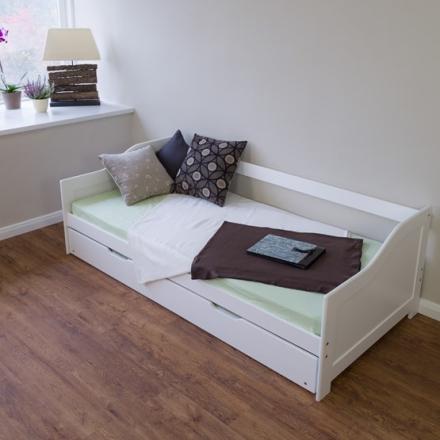 Homestyle4u Enkelsäng - Soffa Med Extrasäng - Vit