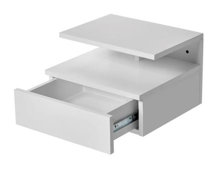 Vally sängbord Vitlack 35x32 cm
