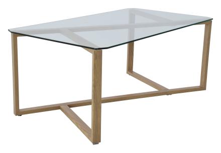 Cleo soffbord Glas/askfolie 110x60 cm