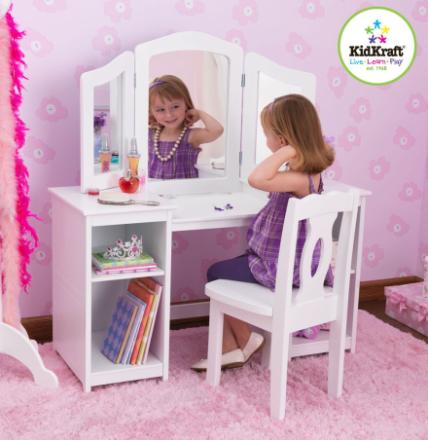 Sminkbord med stol Deluxe, Kidkraft - Kidkraft Barnmöbler 13018