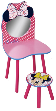 Mimmi Pigg sminkbord och pall, Worlds Apart - Barnmöbler Minnie Mouse 639894