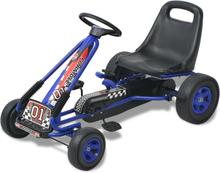 vidaXL pedal-gokart med justerbart sæde blå