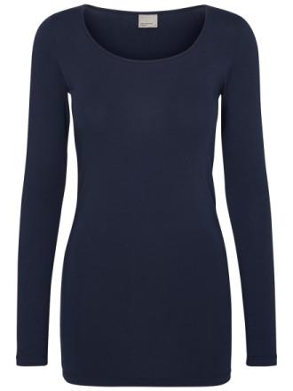 VERO MODA O-neckline Long Sleeved Blouse Women Blue