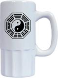 Tai chi yin-yang porslin ölkrus, tai chi yin-yang