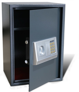 vidaXL Elektronisk digitalt pengeskab med hylde 35 x 31 x 50 cm