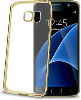 CELLY Laser Cover Galaxy S7 Edge - Gold