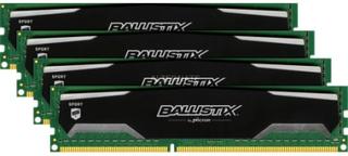 Crucial Ballistix Sport 32GB kit (8GBx4) DDR3 1600MHz (PC3-12800) CL9 @1.5V Crucial Ballistix Spor