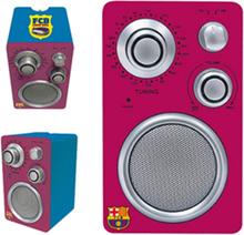 Transistorradio F.C. Barcelona Rödbrun
