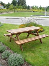 Eden Wood Bänkbord Picknick 170 Brunlaserad