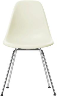 Eames Plastic Chair - DSX Ej klädd, Sits - Cream, Ben - Krom