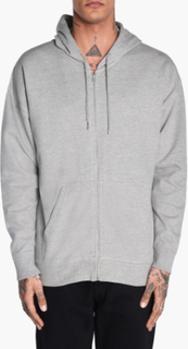 Urban Classics - Oversized Sweat Zip Hoodie - Grå - XXL