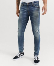 Nudie Jeans JEANS Tight Terry Worn Repaired Blå
