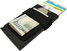 Korthållare Safecard Svart med fack och band