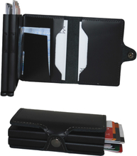Plånbok med dubbla korthållare Safecard Svart