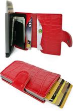 Plånbok med korthållare Safecard Kroko Röd