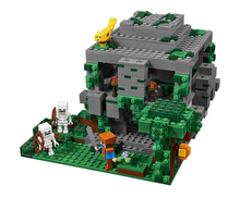 DECOOL Minecraft The Jungle Temple Steve skeleton ocelot LegoINGly 827 DIY Model Building Block Set Kids Brick Toy festival gift