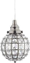 Oriva Fönsterlampa Kristall K9 Boll-Svart Nickel