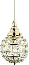 Oriva Fönsterlampa Kristall K9 Boll-Mässing