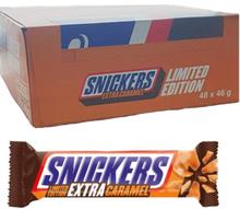 """Hel låda Snickers """"Extra Caramel"""" 48 x 46g - 50% rabatt"""