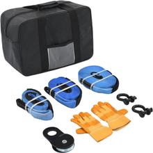vidaXL Bogseringsverktyg för bil 9 delar