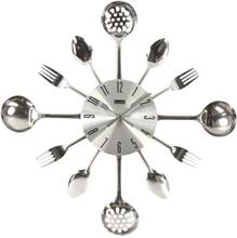 Metalen wandklok voor in de keuken 40cm