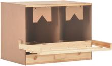 vidaXL rugekasse 2 rum 63 x 40 x 45 cm massivt fyrretræ